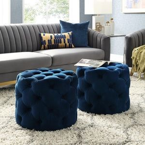Tufted Cube Ottoman (NEW)